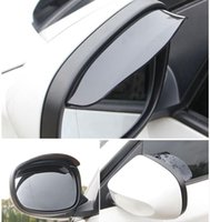 auto weatherstrip - Car Rearview Mirror Shield Sticker RainShade Cover Protector Weatherstrip Rain Eyebrow VUniversal PVC For Auto Mirror Accessories