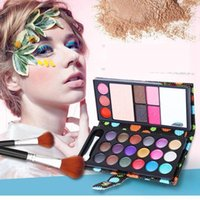 Wholesale 18 Color Eye Shadows Blush Pressed Powder Lip Frozen Eyebrow Professional Makeup Sets Wallet Eyeshadow