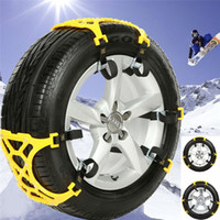 Wholesale Safety Car snow tyre chain Anti Slip Wheel protection chains Easy installation Without removing the tire Icebreaking