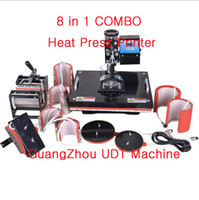 Wholesale Fashion DIY New UDT Advanced Design In1 CE Sublimation Machine Combo Plate Mug Cap TShirt Heat Transfer Machine Heat Press