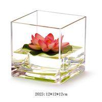 square vase - 12 BULK best crystal big mini large small tall glass clear plastic square clear glass vase Home Decor