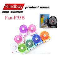 Wholesale Mini fan Protable Fan Multifunctional USB Rechargerable Kids Table Fan Battery Adjustable Speed F95B Multi Color