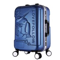abs extrusion - COOL quot inches trolley case Transformers D extrusion ABS Aluminum frame Pull rod box business Travel luggage Boarding