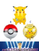 Wholesale Poke go Pikachu Balloons style children Pikachu Poke Ball Charmander Jeni turtle Birthday Party Balloons Halloween Balloon MYY