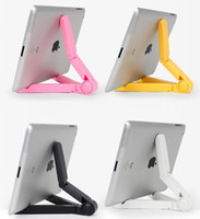 Wholesale Portable Fold up Tablet PC Stand Multifunctional Plastic Mounts for Apple iPad Galaxy Tab Kindle Fire Adjustable Bracket