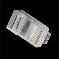 Wholesale Brand New Carton Crystal Head RJ45 CAT5 CAT5E Modular Plug Gold Plated Network Connector