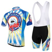 bid blue - Cycling Jersey Sets Bid Sets Blue Shark Short Sleeve Summer Breathable moisture absorption and perspiration Comfortable Fashion