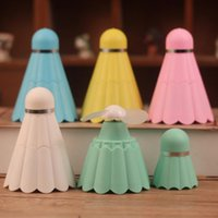 Wholesale USB Badminton Fan Portable Light Rechargeable Tiny Powerful Tool Cooler Summer color to choice