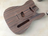 Wholesale one piece Zebrawood body TL electric guitar body have more color can choose