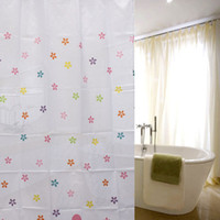 Wholesale Hot Sale Colourful Flowers CM CM Waterproof Fabric Bath Curtain Bathroom Decor Polyester With Hooks