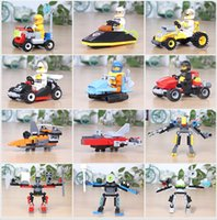 Wholesale kids toys puzzle assemblage building blocks plastic vehicles sold by dozen different shapes ramdom shipment as total shapes