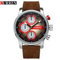 atm steel - Mens Watches Original CURREN Orologio Uomo Sapphire ATM Waterproof Quartz Watch Male Sport Clock Military Watch Drop Shipping