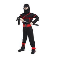 best teenage parties - kids ninjia cosplay Samurai Warrior Anime NINJA Kids Halloween Cosplay Party Fancy Dress Outfit Best Gift
