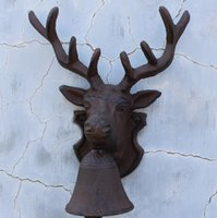 farm gates - Vintage Style Reindeer Cast Iron Door Bell Rustic Wall Mounted Deer Stag Head Doorbell Dinner Bell Farm Ranch Gate