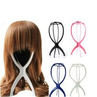 Wholesale 2015 High Qulity Wigs Display Stand Hair Accessories Portable Folding Wig Hat Hair Holder Support Display Colors Random