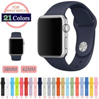 Wholesale 42 M L Silicone Colorful Watch Band With Connector Adapter For Apple Watch Strap For iWatch Sports Buckle Bracelet Colors