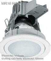 aluminum junction box - 3 inch adjustable with junction box anti glare proof downlight fixture fitting MR16 antifog anti fog bulb holder