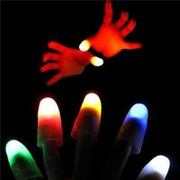 adult magic tricks - Thumbs Fingers concert Halloween Prop Magic Light Up Trick Light Close Up Party
