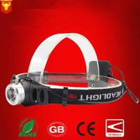 Wholesale CREE LED mode Headlight Headlamp Flashlight Long range hunting for outdoor headlights