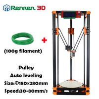 auto printers - 3 D Cheap Delta D Printer LX Auto Level Mini K800 Kossel Rostock Reprap Prusa D Printer Machine Kit Injection parts Pulley