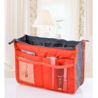 Wholesale Retail Colors Bag in Bag Dual Insert Multi function Handbag Makeup Bag Pocket Bag Organizer Washing Bag Cosmetic Handbag