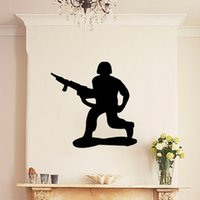 arm modeling - Brave Soldiers Armed Assault Modeling wall Sticker Decor Vinyl Decal Fun Kid Boy Child