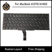 Wholesale Original New RU Russian Russia Keyboard with Backlight for Apple MacBook Air A1370 A1465 Keyboard