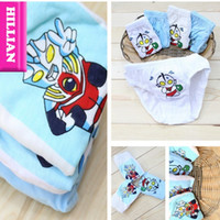 Wholesale HL002 High Quality Baby Boys Cotton Brief Cheap Cotton Underpant Cute Ultraman Print Years Old Underwear Panty