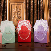 Wholesale 2017 Continental wedding creative candy box personalized wedding candy packaging paper box wedding Lace back gift bag box