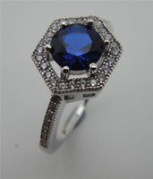 band class - 2016 Fashion White Rhodiun Plated TOP Class Rhinestones Eternity sterling silver Band Wedding Ring Jewelry Women