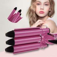 Wholesale Fashion Hairstyle Tools King Size Barrels Big Hair Wave Waver Ceramic Curler Curl Curling Irons Pink GUB