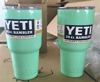 Wholesale In Stock oz Yeti Cups Stainless Steel Yeti Rambler YETI Coolers Rambler Tumbler Double Walled Travel Mug YETI cup colster