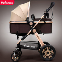 Wholesale Belecoo belle s stroller high landscape can sit can lie winter and summer baby carriage of portable stroller
