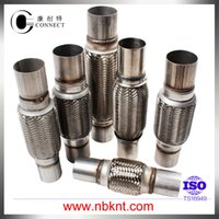 automobile mufflers - Automobile universal stainless muffler connect pipe exhaust flexible pipe with double nipples with double layer bellows