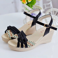 amazon korea - amazon summer shoes Han edition high heeled sandals Bohemia platform sandals Wedge shoes fish mouth shoes now in South Korea Europe and