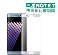 Wholesale For Samsung NOTE7 Galaxy S7 edge S6 Edge S6 edge plus Full Cover Curved Tempered Glass Film Screen Protector With Package