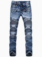 cheap jeans for men - cheap Luxury balmain jeans for men Stretch stylish jeans personality slim fit skinny balmain jeans men s pants