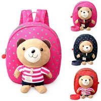 Wholesale New Baby Toddler Cartoon Safety Harness Anti lost Bear Backpack Strap Walker Baby Bags Lunch Box Bag