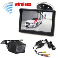 Wholesale Wireless inch TFT LCD Car Monitor Suction Cup and Bracket IR Night Vision Rear View Camera Parking System