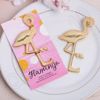 beer presents - Flamingo Beer Bottle Opener Alloy Coconut Wedding Beer Bottle Favors Beach Party Favors Banquet Present QQA221