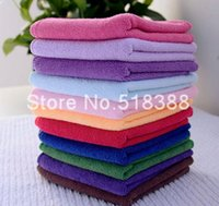 Wholesale x25cm Microfiber Car Cleaning Towel Microfibre Detailing Polishing Scrubing Hand Towel Car Wash