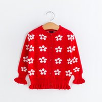 Wholesale New Arrival Autumn Children Fashion Sweater Children S Sweaters Rose Embroidered Sweater For Girl By Fly_Dream