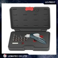 Wholesale LEMATEC SurFix Pistol Ratchet Driver Bit Set Hand tools repair tool kits with Multi function bits Stainless Bit Holder