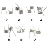 Wholesale Wire Wick Prebuilt Fused Clapton Alien Kanthal Coils Matching with RDA Rebuildable Dripping Atomizers FDA Ohm Heating Wires DHL Free