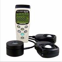 Wholesale TM UVA nm amp Solar Power nm amp Light Lux nm in1 Meter Tester USB Datalogger Records