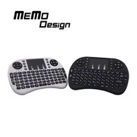 Wholesale RII I8 Mini Keyboard Russian English Air Mouse MultiMedia Remote Control Touchpad Handheld for Android TV BOX Notebook Mini PC