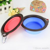 Wholesale 50pc pet dog cat pig animal Bowl Puppy Drinking Collapsible Easy Take Outside Feeding Water Feeder Travel protable Dish folding bowls