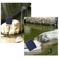 Wholesale 9V W Solar Power Panel Landscape Pool Solar Pump Garden Fountains Plable Solar Power Decorative Fountain Water Pump