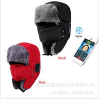 Wholesale 2016 winter outdoor cold wind and snow hat plush mask with Bluetooth wireless smart cap