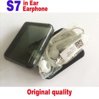 Wholesale Original Quality Earphones For S7 S7 edge Galaxy Headphone High Quality In Ear Headset With Mic Volume Control For phone s WithRetailBox